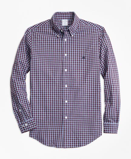 Regent Fit Brushed Oxford Gingham Sport Shirt