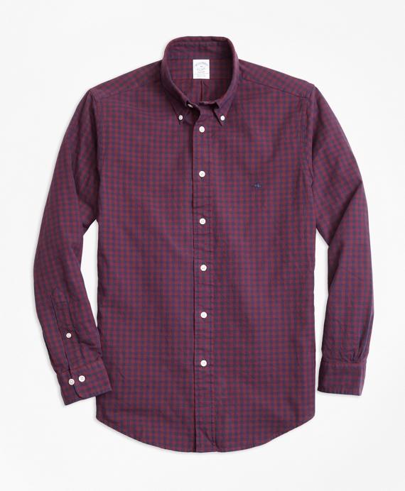 Regent Regular-Fit Sport Shirt, Brushed Oxford Gingham Navy