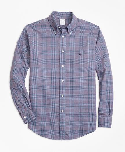 Regent Fit Brushed Oxford Glen Plaid Sport Shirt