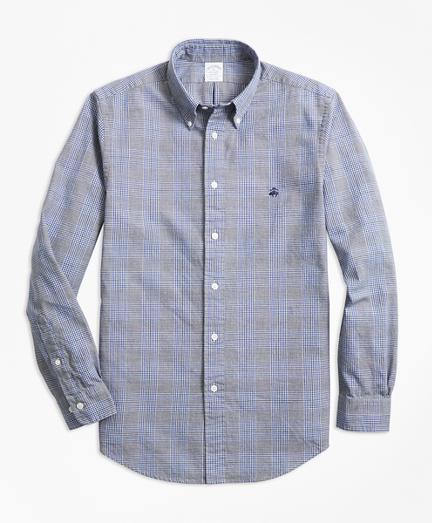 Regent Regular-Fit Sport Shirt, Brushed Oxford Glen Plaid