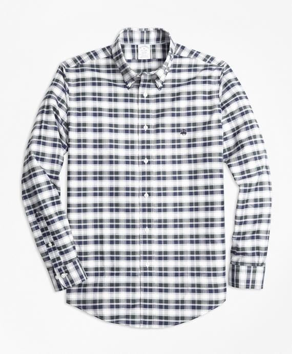 Non-Iron Regent Fit Grey Heather Plaid Sport Shirt Grey