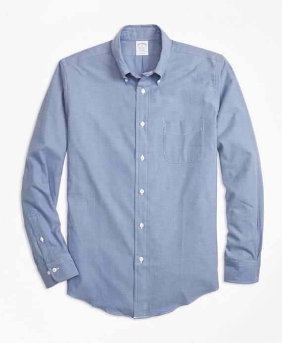 Regent Fit Luxury Flannel Sport Shirt Blue