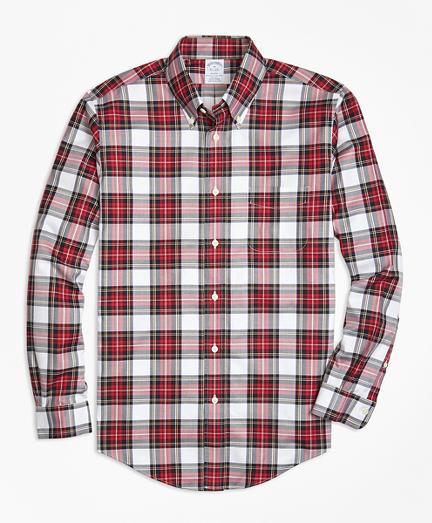 Non-Iron Regent Fit Dress Stewart Tartan Sport Shirt