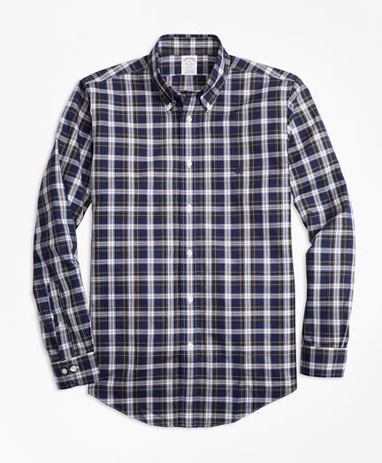 Non-Iron Regent Fit Dress Gordon Tartan Sport Shirt