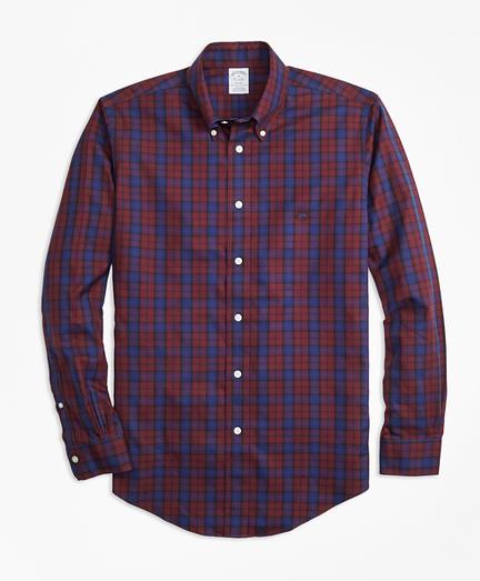Non-Iron Regent Fit Kerr Tartan Sport Shirt