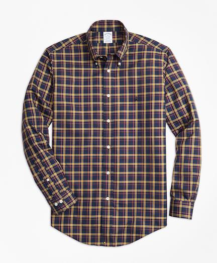 Non-Iron Regent Fit Macmillan Classic Tartan Sport Shirt
