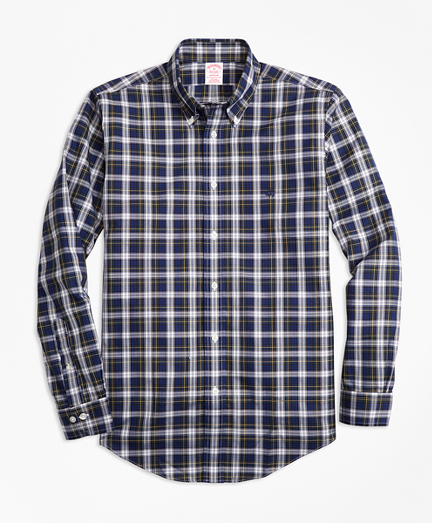 Non-Iron Madison Fit Dress Gordon Tartan Sport Shirt