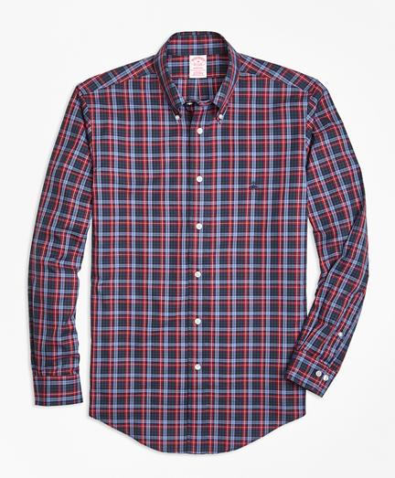 Non-Iron Madison Fit Macmillan Blue Tartan Sport Shirt