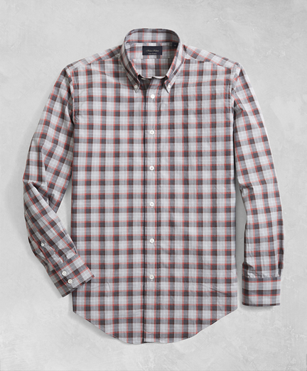 Golden Fleece® Regent Fit Multi-Plaid Flannel Sport Shirt