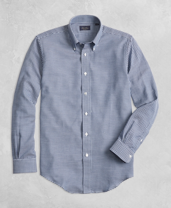 Golden Fleece® Regent Fit Gingham Sport Shirt Navy