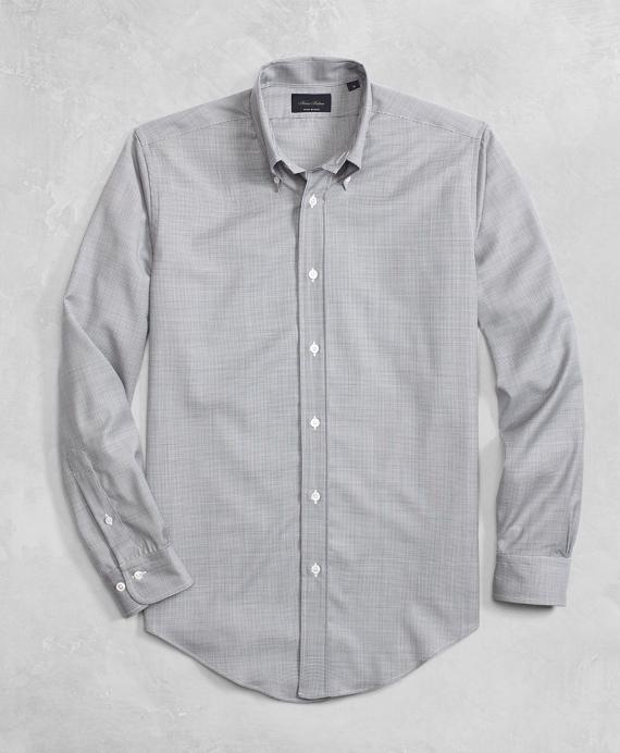 Golden Fleece® BrooksTech™ Lightweight Wool Mini Navy Check Sport Shirt Navy