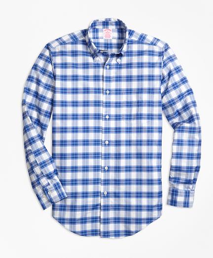 Madison Fit Oxford Plaid Sport Shirt