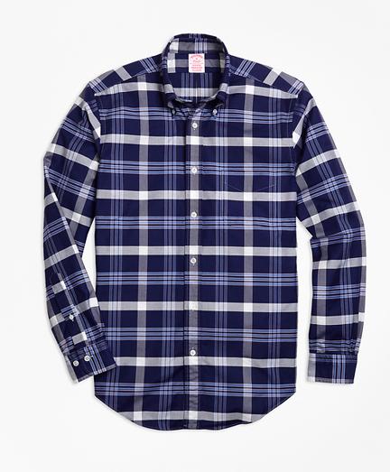 Madison Fit Oxford BB#10 Plaid Sport Shirt
