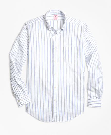 Madison Fit Oxford Small Stripe Sport Shirt