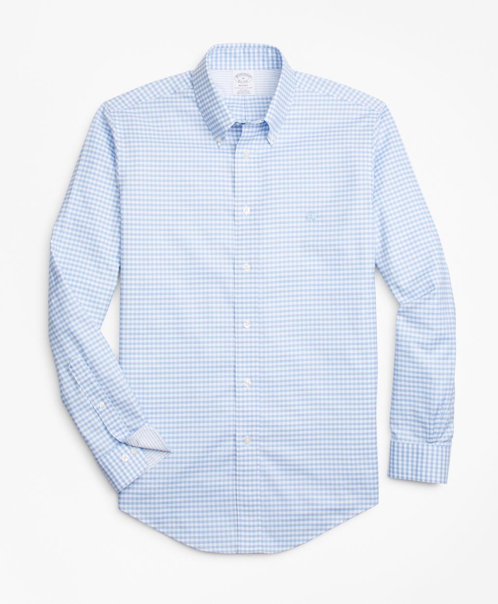 c0f891c9b1e Non-Iron Regent Fit Gingham Sport Shirt - Brooks Brothers