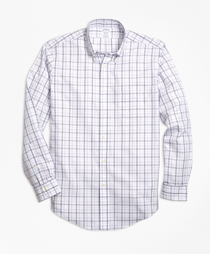 Non-Iron Regent Fit Triple-Color Windowpane Sport Shirt