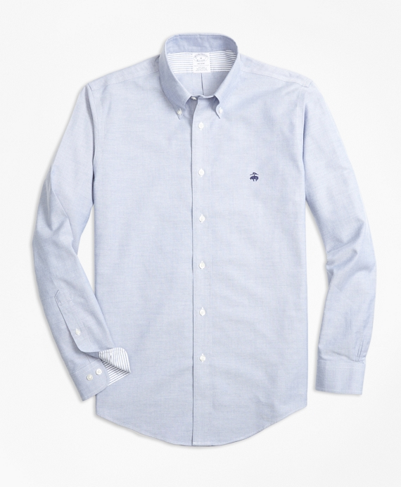 Non-Iron Regent Fit Supima® Cotton Oxford Sport Shirt Blue