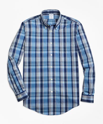 Regent Regular-Fit Sport Shirt, Non-Iron Heathered Madras
