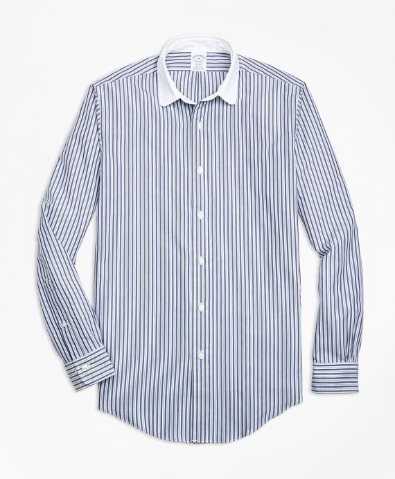 Regent Fit Multi-Stripe Sport Shirt Blue