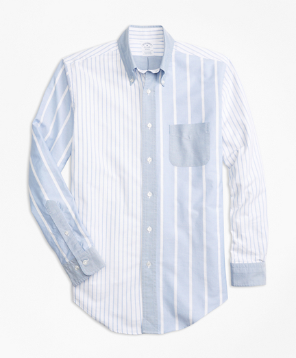 Regent Fit Oxford Fun Stripe Sport Shirt