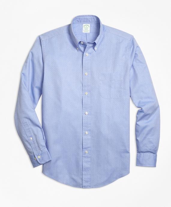 Milano Fit Dobby Micro-Diamond Sport Shirt Blue