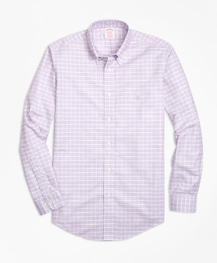 Non-Iron Madison Fit Slub Windowpane Sport Shirt