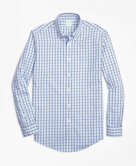 Non Iron Milano Fit Three Color Gingham Sport Shirt by Brooks Brothers