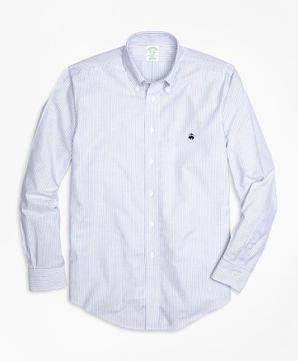 Non-Iron Milano Fit Oxford Stripe Sport Shirt