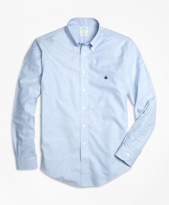 Non-Iron Milano Fit Oxford Sport Shirt Light Blue