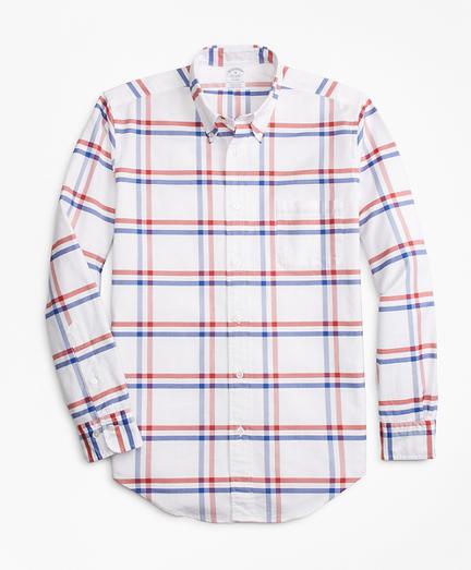 Regent Fit Oxford Windowpane Sport Shirt