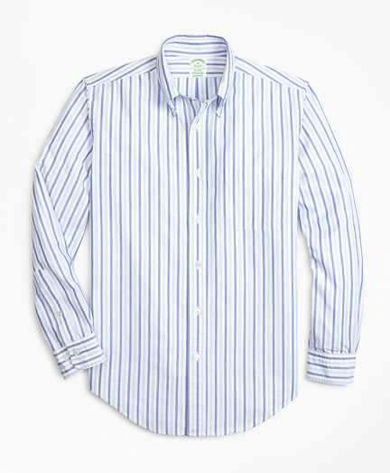Milano Fit Oxford Alternating Stripe Sport Shirt