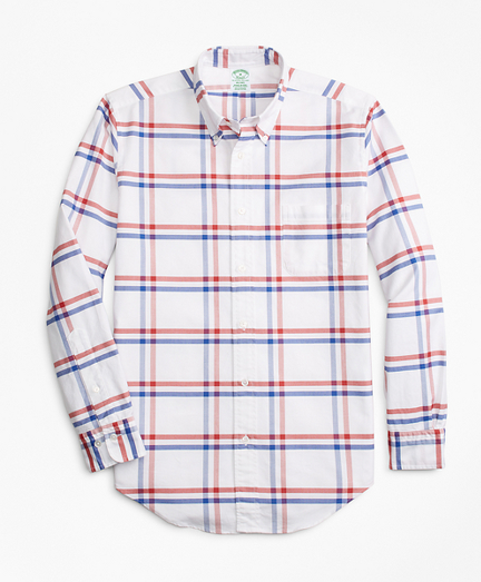 Milano Fit Oxford Windowpane Sport Shirt