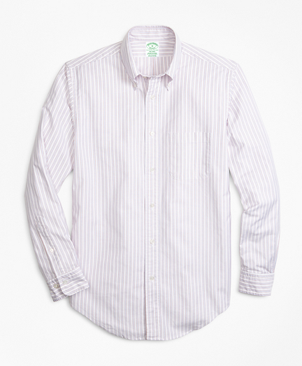 Brooksbrothers Milano Fit Oxford Outline Stripe Sport Shirt