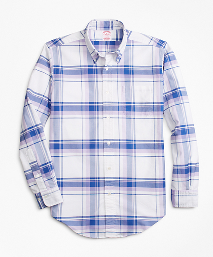 Madison Fit Oxford Plaid Sport Shirt