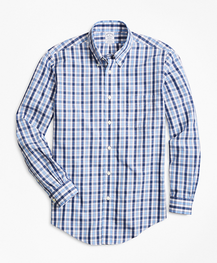 Non-Iron Regent Fit Outline Check Sport Shirt