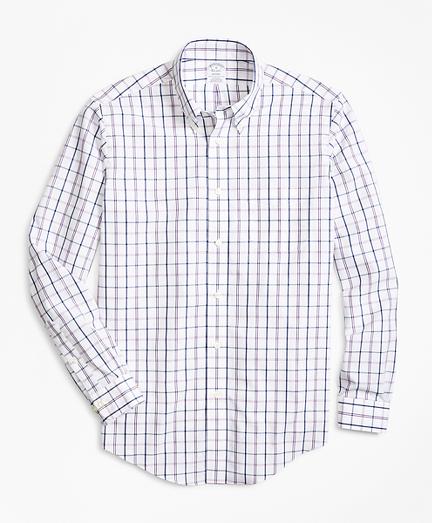 Regent Regular-Fit Sport Shirt, Non-Iron Windowpane
