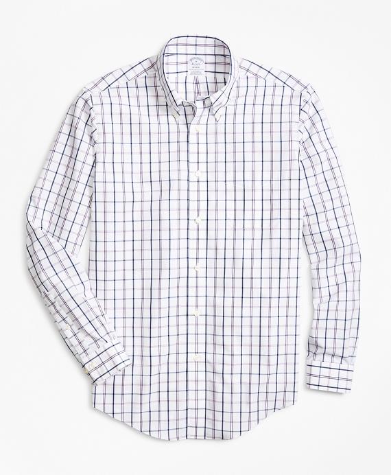 Regent Regular-Fit Sport Shirt, Non-Iron Windowpane Pink