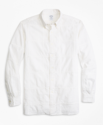 Regent Fit Patchwork Seersucker Sport Shirt