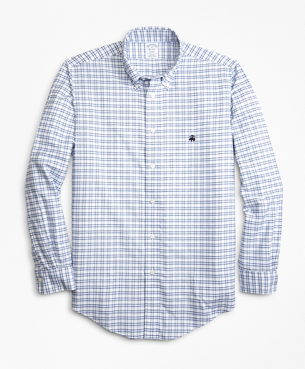 Non-Iron Regent Fit Track Check Sport Shirt
