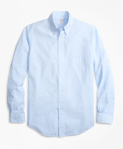 Regent Fit Stripe Seersucker Sport Shirt