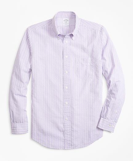 Regent Fit Gingham Seersucker Sport Shirt