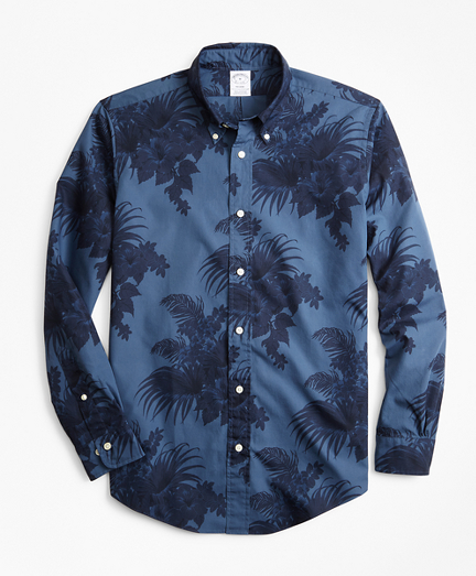 Regent Fit Supima® Tropical Print Sport Shirt