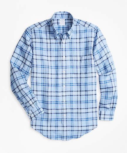 Regent Fit Tartan Irish Linen Sport Shirt