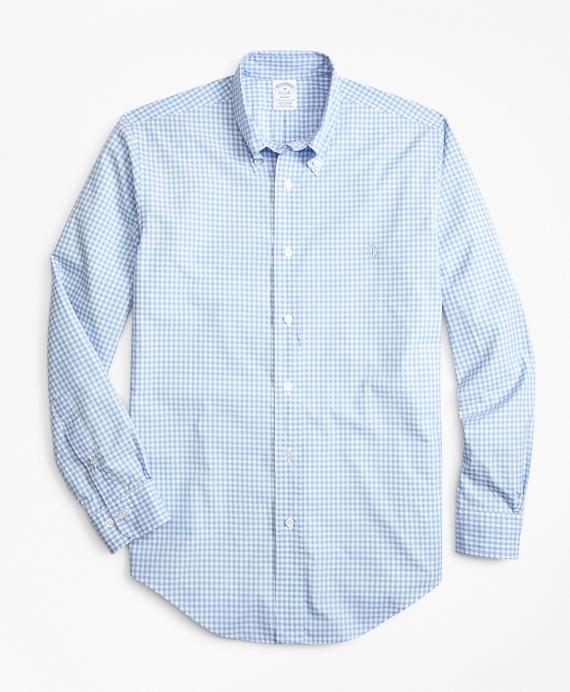 Regent Fit Gingham Zephyr Sport Shirt Blue