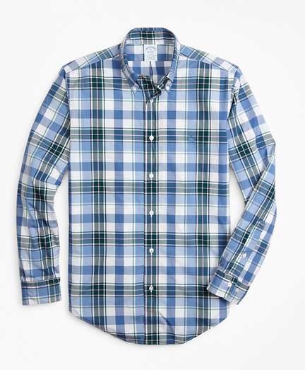Regent Fit Open Plaid Zephyr Sport Shirt