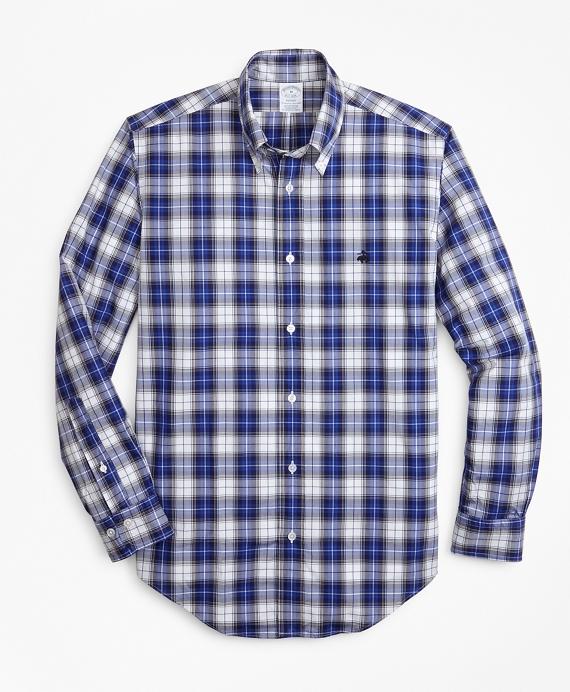 Regent Fit Tartan Zephyr Sport Shirt Blue