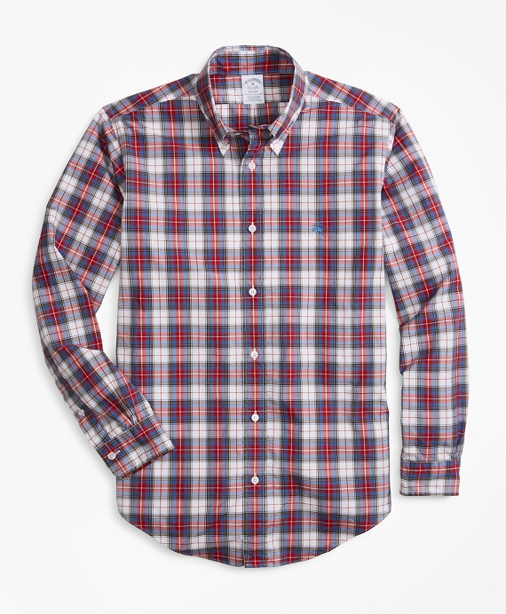 Regent Fit Tartan Zephyr Sport Shirt Red