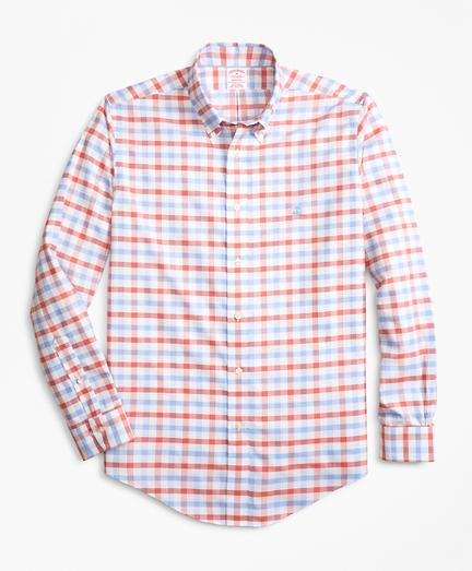 Non-Iron Madison Fit Dobby Gingham Sport Shirt