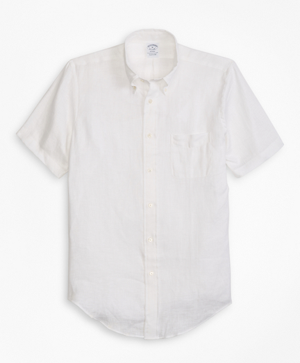 Regent Fit Irish Linen Short-Sleeve Sport Shirt