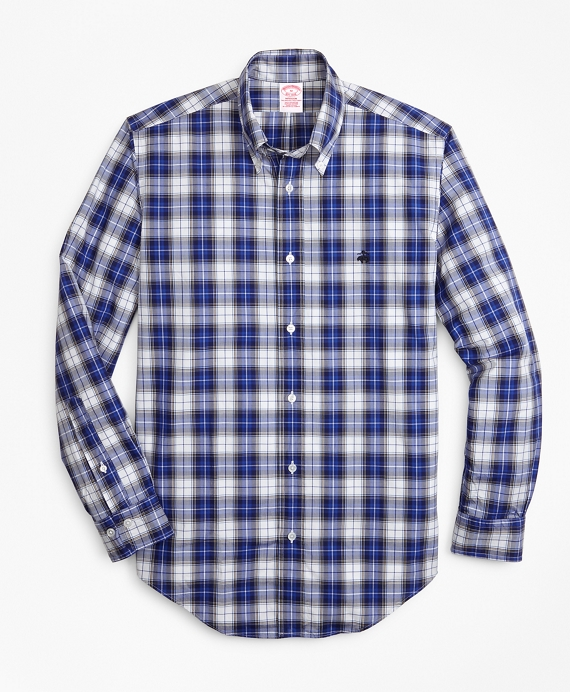 Madison Fit Tartan Zephyr Sport Shirt Blue